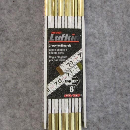 Lufkin 6' Red End Two Way Folding Rule (Model #966)
